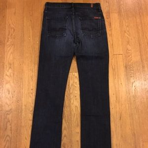 7 For All Mankind Highwaisted Straight Leg Jeans